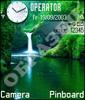 Водопад в зеленой чаще