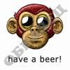 Обезьянку колбасит без пива